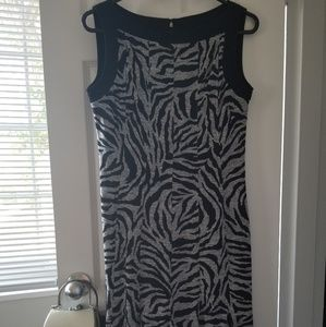 Grey and Black Zebra Sandra Darren Dress